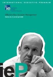 Key Account Management - IE Executive Education