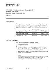 9161/9261 T1 Network Access Module (NAM)