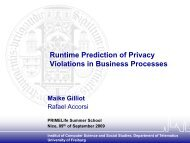 Runtime Prediction of Privacy Violations in ... - IT is your future