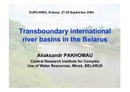 Transboundary international river basins in the Belarus - INBO
