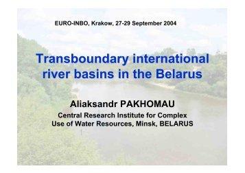 Transboundary international river basins in the Belarus - INBO