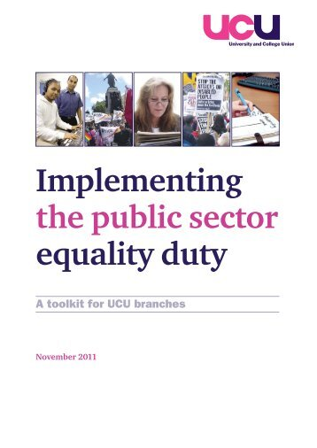 Implementing the public sector equality duty - UCU