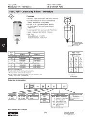 F507-01AOS/M1 Parker Pneumatic Filter Datasheet - MRO Stop