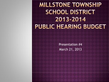Sixth Grade Summer Reading - Millstone Township Schools