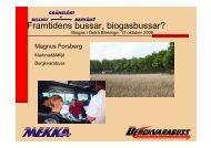 Framtidens bussar, biogasbussar? - Energikontor Sydost
