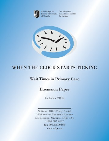 When The Clock Starts Ticking: Wait Times in Primary Care