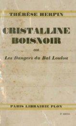 CRISTALLINE BOISNOIR - Manioc