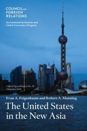 The United States in the New Asia - Council on Foreign Relations