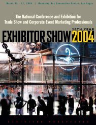 The National Conference and Exhibition for Trade Show - Exhibitor ...
