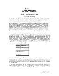 Sybase® SQL Anywhere® 11