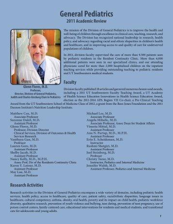 General Pediatrics - UT Southwestern