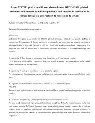 Legea 279/2011 pentru modificarea si ... - Achizitii publice