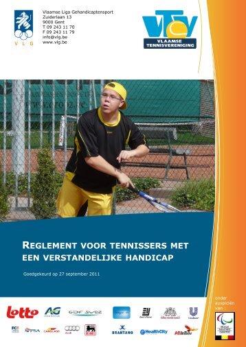 reglement voor tennissers met een verstandelijke handicap
