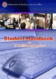 Student Handbook on IT Facilities and Services - Department of ...
