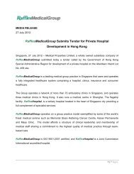 RafflesMedicalGroup Submits Tender for Private Hospital ...