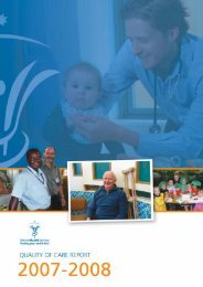 Quality of Care Report - Ballarat Health Services