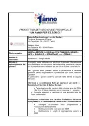 Scheda di Sintesi - Azienda Provinciale per i Servizi Sanitari