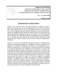 Séminaire International Innovation et ... - Ideassonline.org