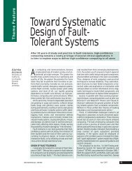 Toward Systematic Design of Fault- Tolerant Systems