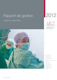 Rapport de gestion 2012 - Hôpital du Valais