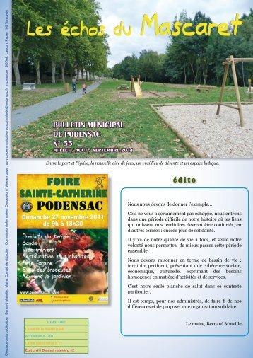 N° 55 juillet / août / septembre 2011 - Mairie de Podensac
