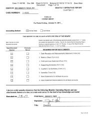 Case 11-45190 Doc 366 Filed 01/10/12 Entered 01/10/12 17:16:12 ...