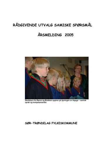rådgivende utvalg samiske spørsmål - Sør-Trøndelag fylkeskommune