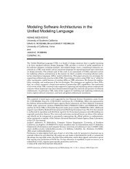 Modeling Software Architectures in the Unified Modeling Language