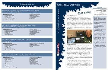 Criminal Justice - Casper College