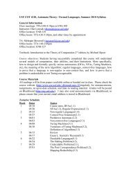 USF COT 4210, Automata Theory / Formal Languages, Summer ...