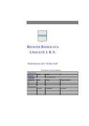 Modellazione dati - Regione Basilicata