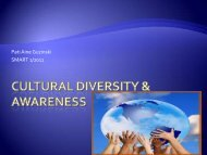 Cultural diversity & awareness
