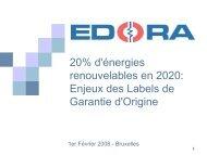 EDORA - Mme Jacquet - Contribution du secteur belge