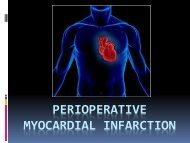 Perioperative Myocardial Infarction