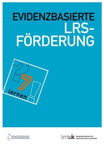 Evidenzbasierte LRS-Förderung - Schulpsychologie