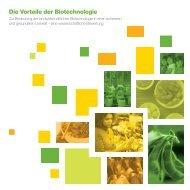 Die Vorteile der Biotechnologie - SoyConnection.com