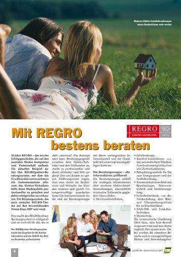 Mit REGRO bestens beraten Mit REGRO bestens beraten