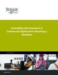 Embedding SQL Anywhere in Commercial Applications ... - Sybase