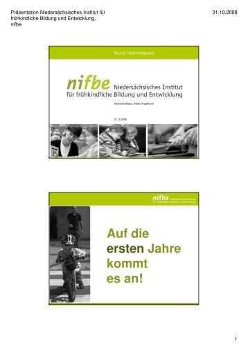 NIFBE-Praesentation für Round Table 31.10.2008