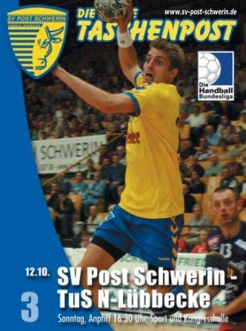 Ich brauche keine Aufwärmphase! - SV Post Schwerin - Handball ...