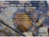 Conservation Status of Freshwater Mussels in the Guadalupe River ...