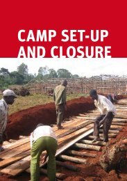 Chapter 7 Camp Set-up and Closure - Norwegian Refugee Council