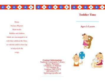 Toddler Time Brochure.pub (Read-Only) - City of Yankton