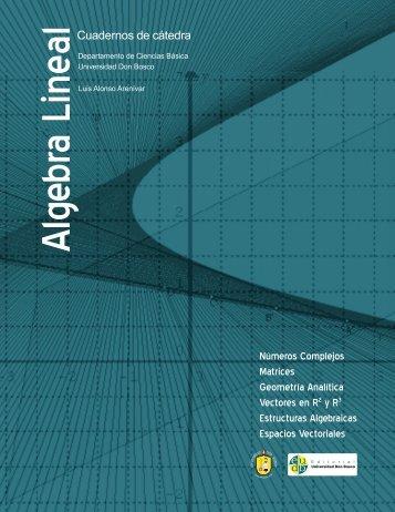 Álgebra lineal - Universidad Don Bosco