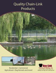 Fence Systems - Edgemoor Inc.