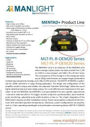 MENTAD+ Product Line MLT-PL-R-OEM20 Series ... - RPMC Lasers