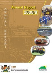 Annual Report - Co-operative Governance and Traditional Affairs