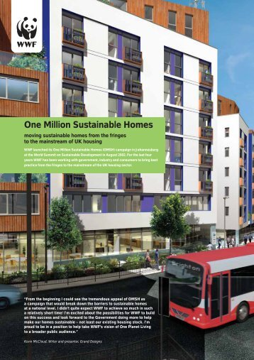 One Million Sustainable Homes (OMSH) report - WWF UK