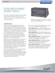 3Com® Switch 4800G Gigabit Family - Viglen