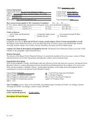 Organization Name: Bayard Taylor Memorial Library Contact Name